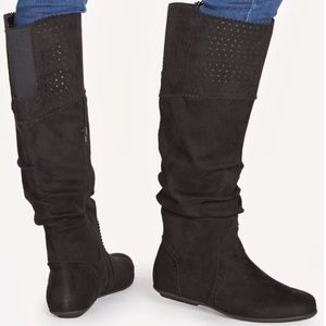 Faux suede JustFab boots